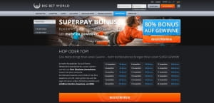Big Bet World Superpay Aktion