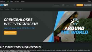 mybet: Mit Around the World 10 Euro Bonus sichern